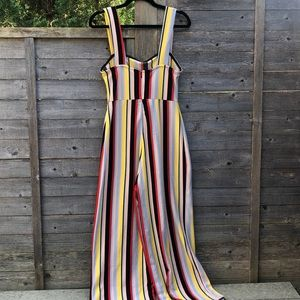Urban Outfitters Pants - Striped Rainbow Jumpsuit